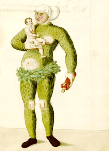 woman little men schembart carnival 1590 public domain rev - strtch mod